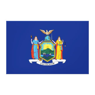 New York State Flag Canvas Print