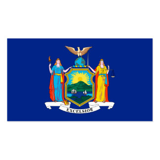 New York State Flag Design Double-Sided Standard Business Cards (Pack Of 100)