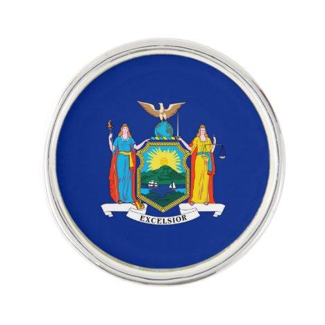New York State Flag Design Decor Lapel Pin