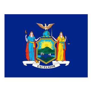 New York State Flag Design Decor Postcard