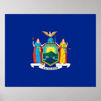 New York State Flag Design Decor Poster
