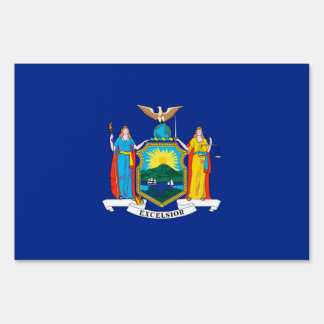 New York State Flag Design Decor Yard Sign