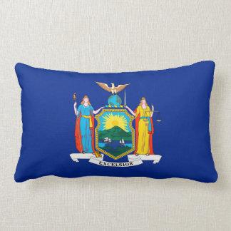 New York State Flag Design Lumbar Pillow