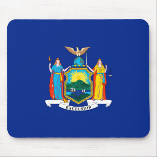 New York State Flag Design Mouse Pad