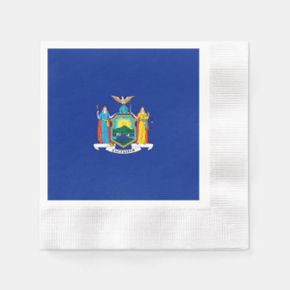 New York State Flag Design Napkin