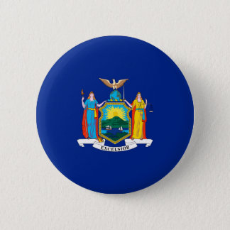 New York State Flag Design Pinback Button