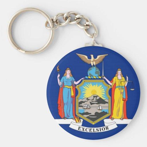 New York State Flag Key Chain