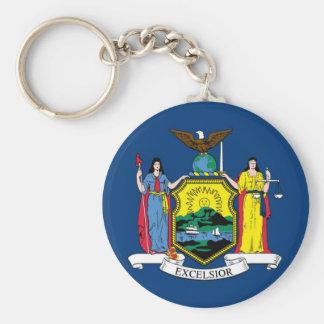 New York State Flag Keychain