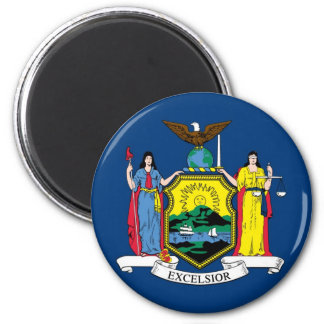 New York State Flag 2 Inch Round Magnet
