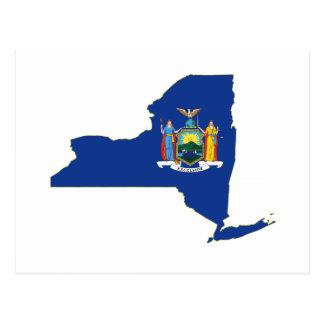 New York State Flag Map Postcard