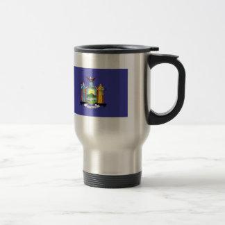 New York State Flag 15 Oz Stainless Steel Travel Mug
