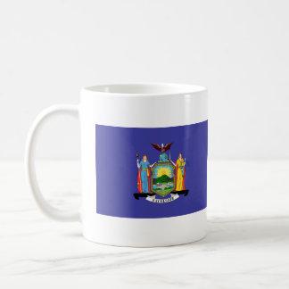 New York State Flag Classic White Coffee Mug