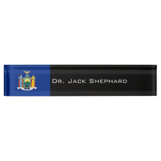 New York State Flag Name Plate