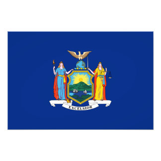 New York State Flag Photo Print