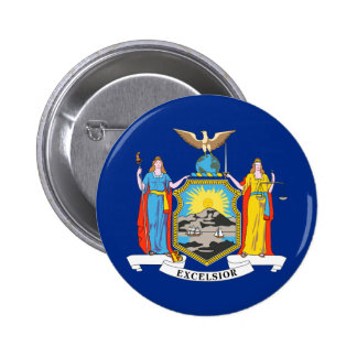 New York State Flag Pinback Button