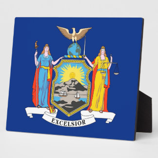 New York State Flag Plaque