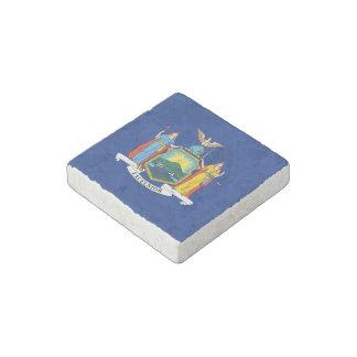 New York State Flag Stone Magnet