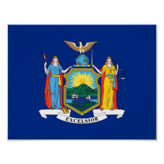 new york state flag united america republic symbol poster