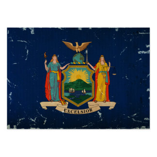 New York State Flag VINTAGE Large Business Cards (Pack Of 100)