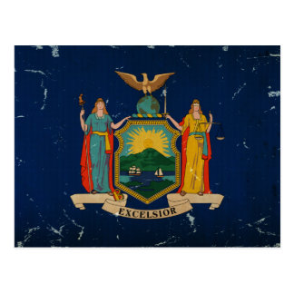 New York State Flag VINTAGE Postcard