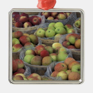 New York State Macintosh apples in baskets Metal Ornament
