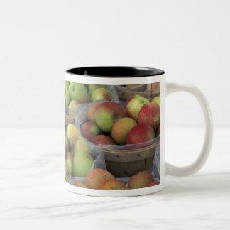 New York State Macintosh apples in baskets Two-Tone Coffee Mug