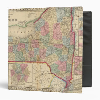 New York State Map by Mitchell Binder