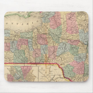 New York State Map by Mitchell Mouse Pad