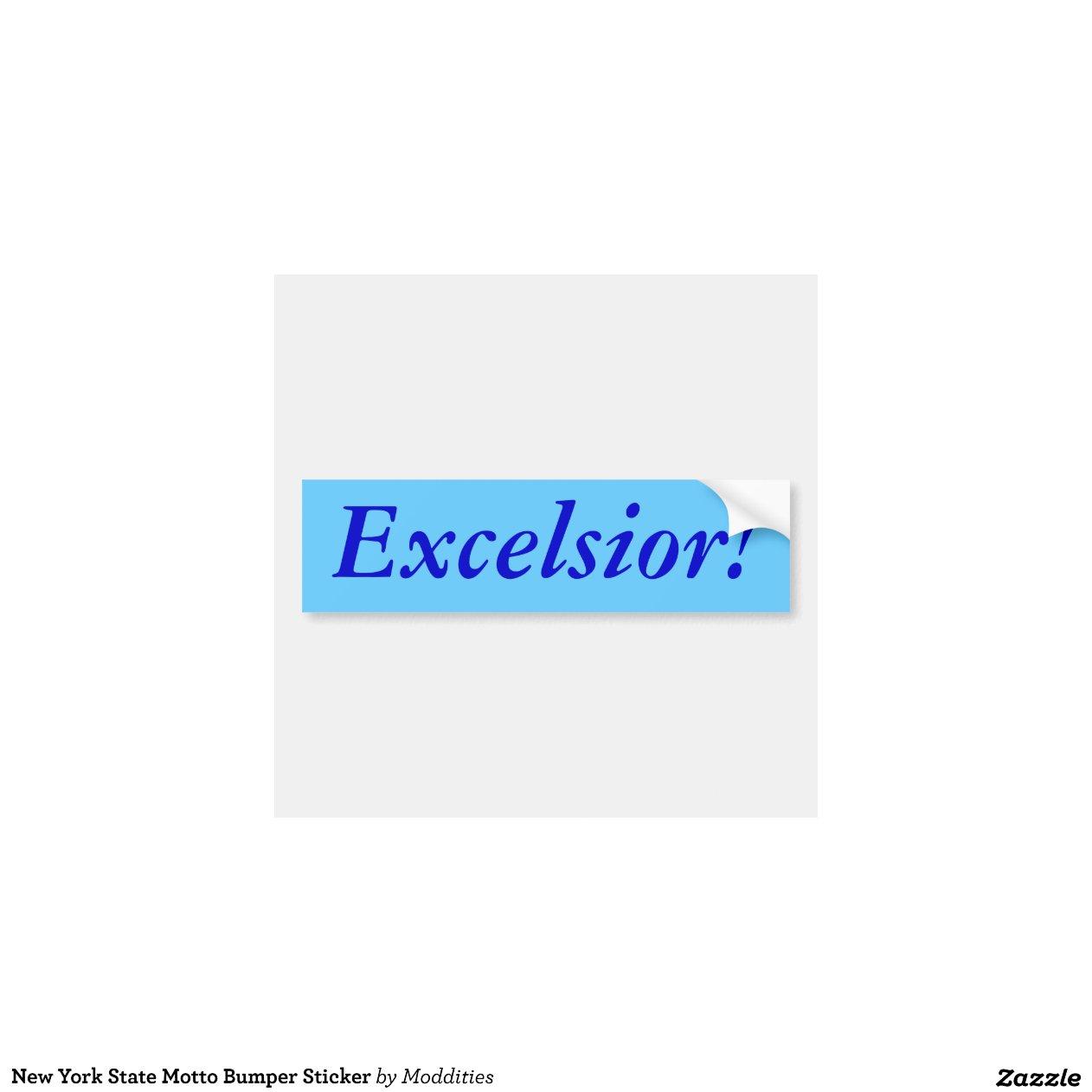 new york state motto bumper sticker car bumper sticker. Black Bedroom Furniture Sets. Home Design Ideas