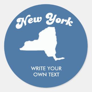 NEW YORK STATE MOTTO T-SHIRT T-shirt Classic Round Sticker