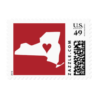New York State Moving Announcement City Stamp