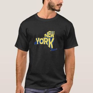New York State Name Word Art Yellow T-Shirt