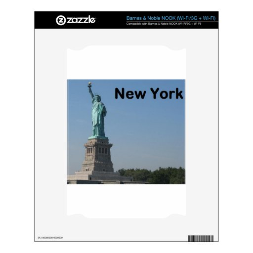 NEW YORK State of Liberty Decal For NOOK