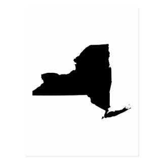 New York State Outline Postcard