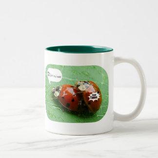 New York State, Overhea... Two-Tone Coffee Mug