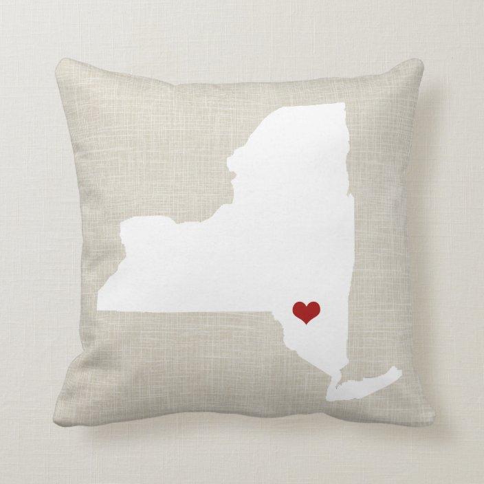 New York State Pillow Personalized Zazzle Com