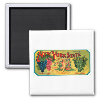 New York State Seneca Lake Grapes Vintage Crate La Magnet