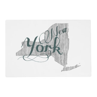 New York State Typography Placemat