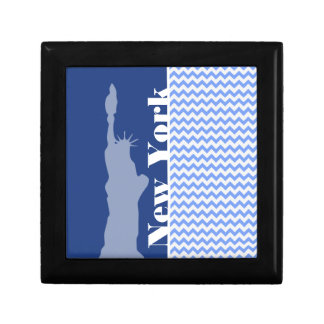 New York Statue of Liberty Blue Chevron Gift Boxes