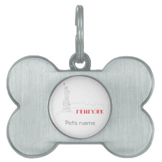 New-York, Statue-of-Liberty Cool Pet Name Tag