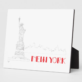 New-York, Statue-of-Liberty Cool Plaque