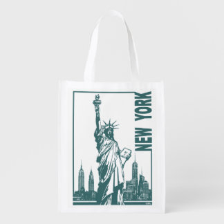 New York-Statue of Liberty Grocery Bag