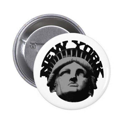 new york - statue of liberty pinback buttons