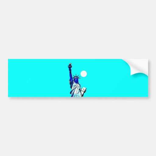 New York Statue of Liberty Pop Art Bumper Stickers