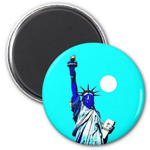 New York Statue of Liberty Pop Art Refrigerator Magnet