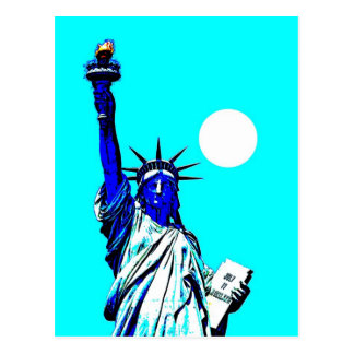 New York Statue of Liberty Pop Art Postcard