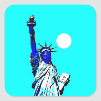 New York Statue of Liberty Pop Art Square Sticker