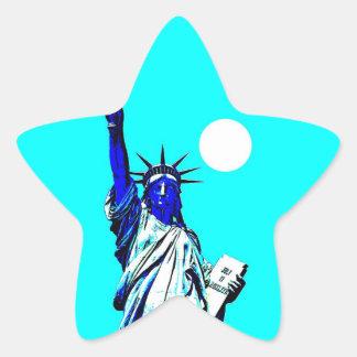 New York Statue of Liberty Pop Art Star Sticker