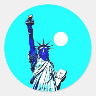 New York Statue of Liberty Pop Art Sticker