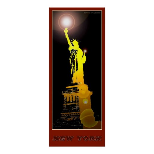New York Statue of Liberty Poster-03